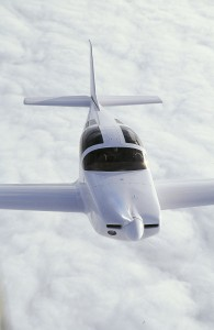 Glassair III Cruising Above Clouds
