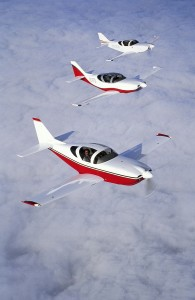 Glasair Formation Flight With Caption