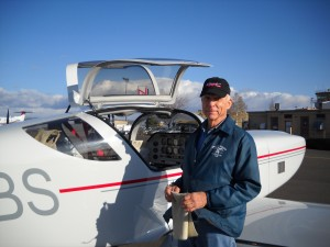 Mr. Bill Symmes, a happy Glasair builder and Glasair Training Client
