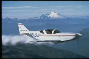 Glasair III in front of Mt. Baker, WA - Photo Courtesy of Glasair Aviation, LLC