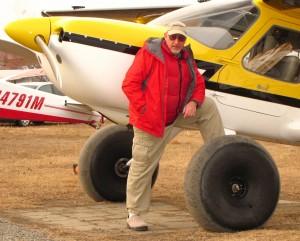 Alan Negrin and N944SP at Lake Hood Strip, Anchorage, Alaska 4/28/11