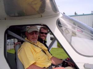 Joe Brown and Alan Negrin - First Flight N454HP